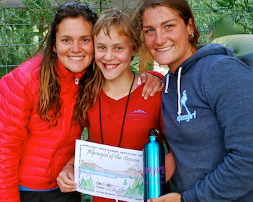 Pre teen camper award at girls camp