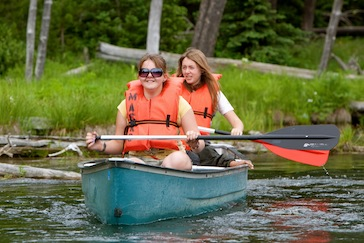 Canoeing at Girls Camp