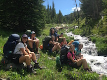 girls backpacking camp MT