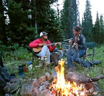 Music and campfires at girls sleep away camp