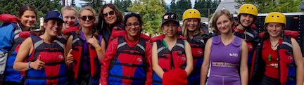 Rafting Washington camp for girls