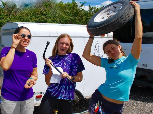 Summer Camp Staff Training Tire Changing