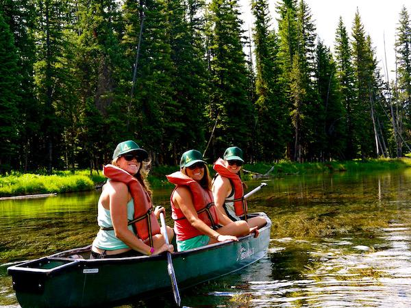 Canoeing at Summer Camp Staff Training