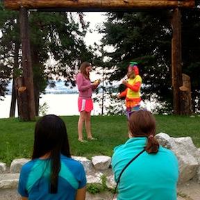 Summer camp activity talent show