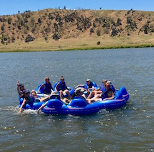 Floating the river at camp