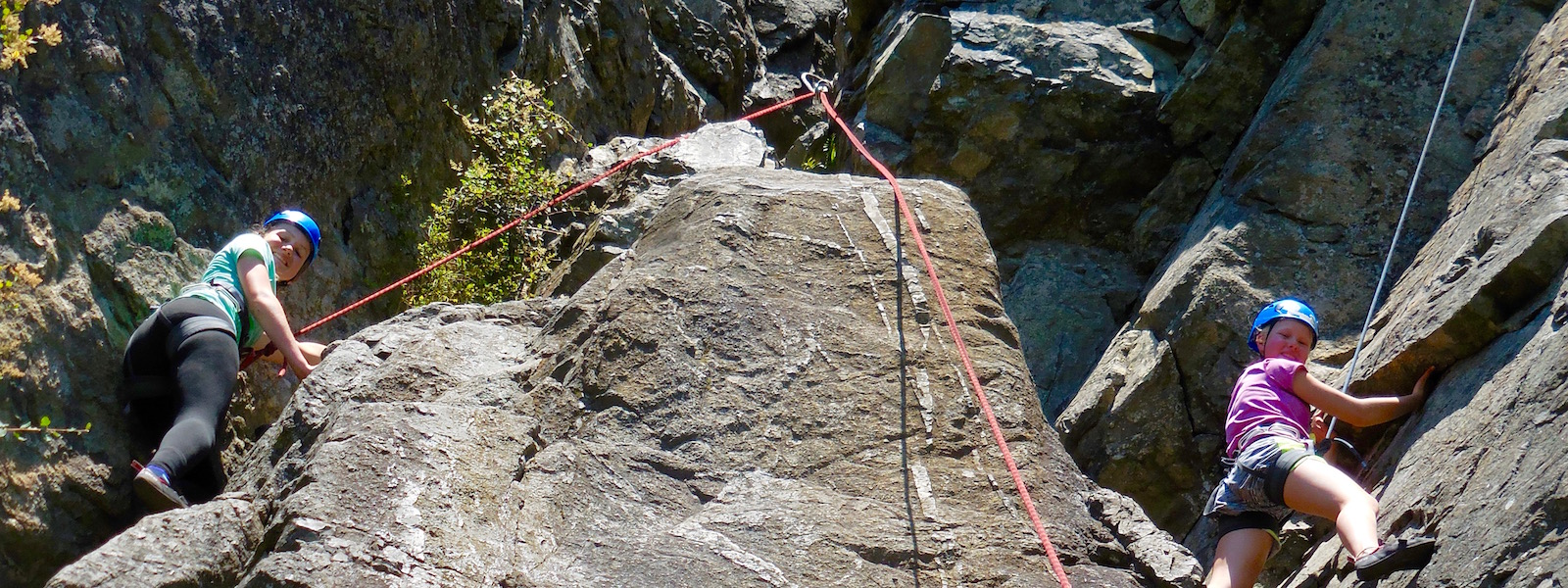 Girls Summer Camp Rock Climbing