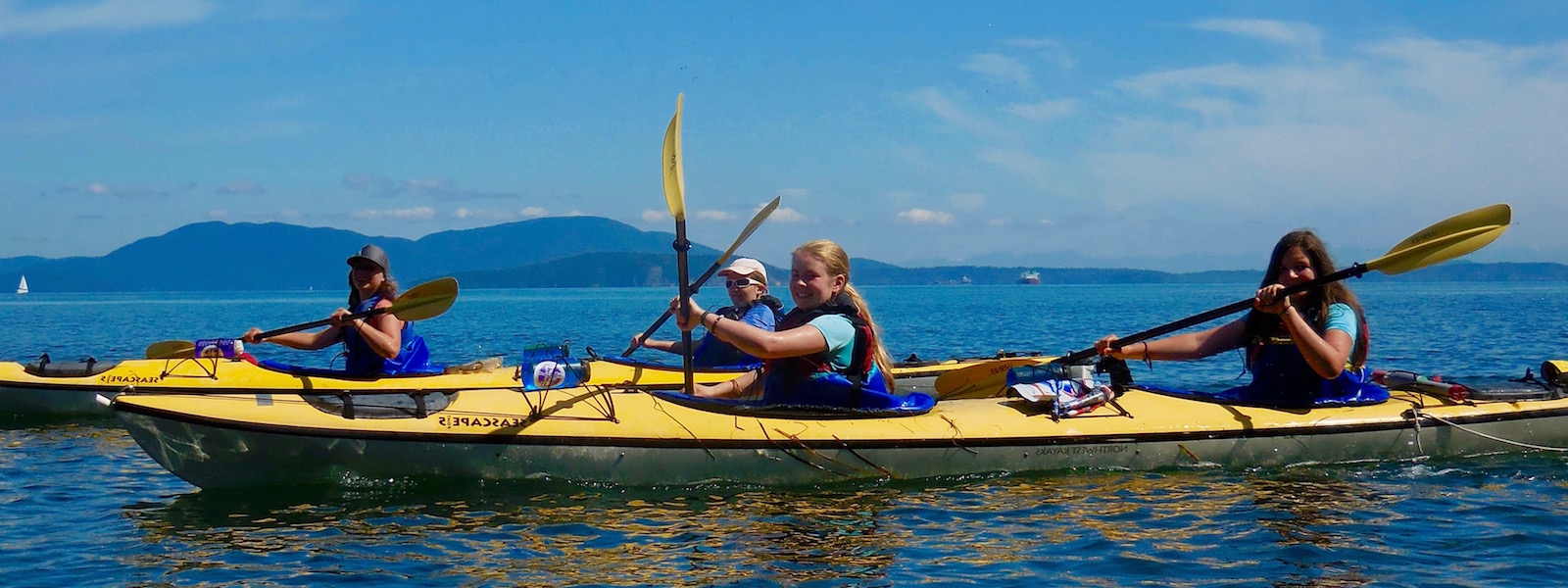 Sea Kayaking Girls Summer Camp Washington