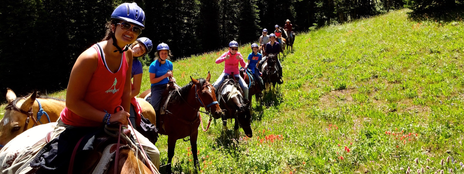 Girls Horse Camp in Wyoming