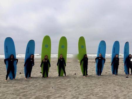 Teen Girls Surf Oregon