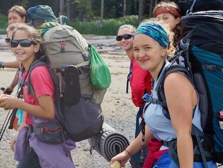 Girls Backpacking Camp