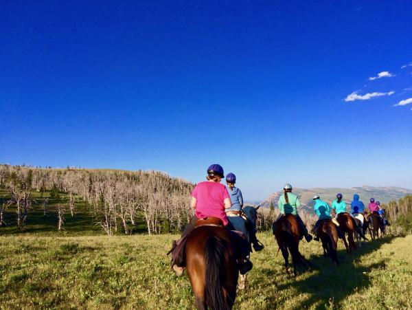 Teen Girls Horseback