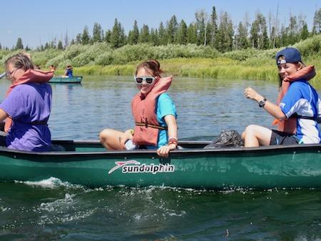 Girls Camp Canoe