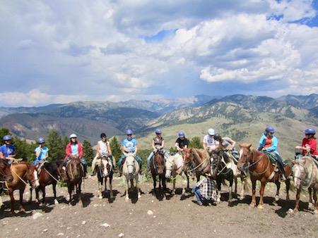 Girls Camp Horseback Fun