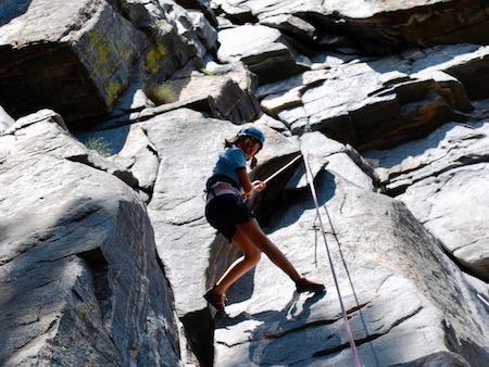 Girls Rock Climbing Camp in SW Montana