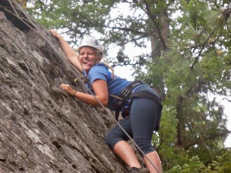 Girls Rock Climbing Camp Rock Wall