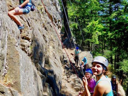 Girls Rock Climbing Camp teamwork