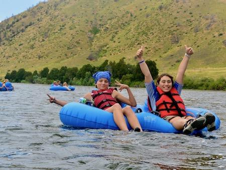 Girls Camp River Tubing