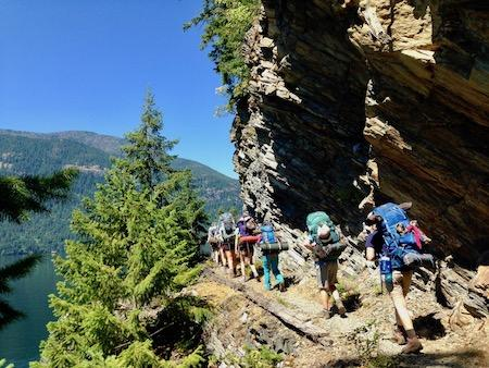 North Cascades Backpacking Trip Girls