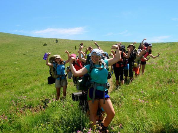 Girls taking leadership roles at summer camp