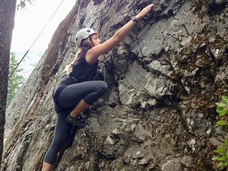 Girls Rock Climbing Camp outdoors