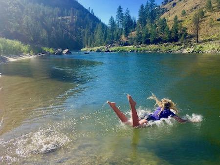 Swimming Mountain Lake
