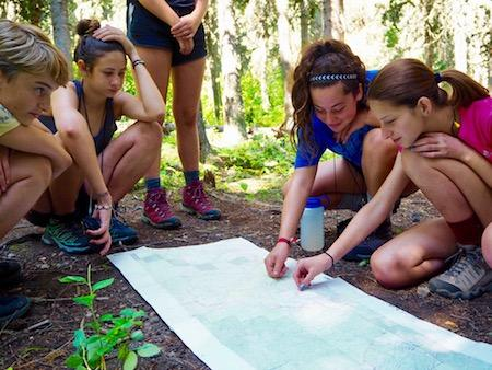Girls taking leadership roles at summer camp
