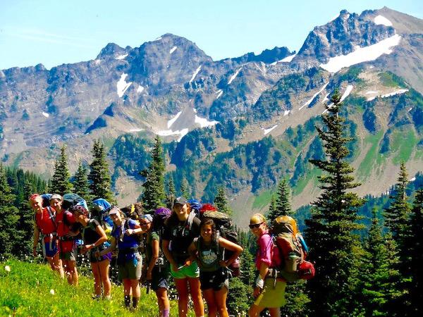 Girls Backpacking Camp Washington State