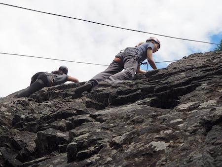 Girls Rock Climbing Camp Friends