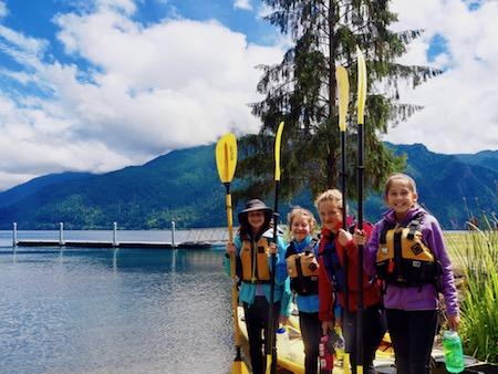 Girls Camp Washington Kayak