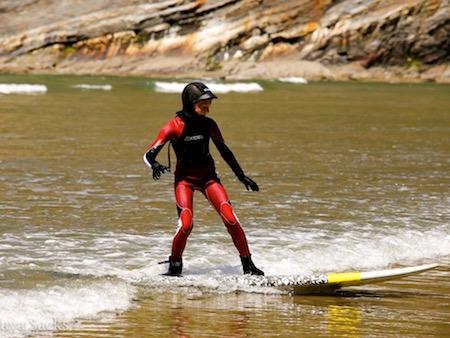 Teen Girl Surf Oregon Coast