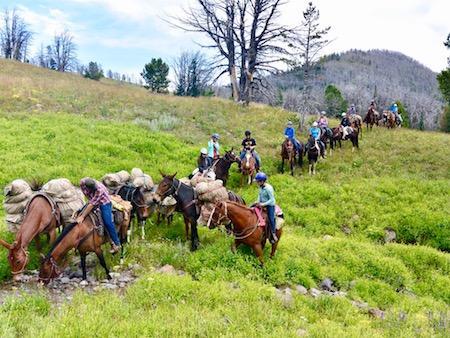 Teen Girls Horse Pack Trip