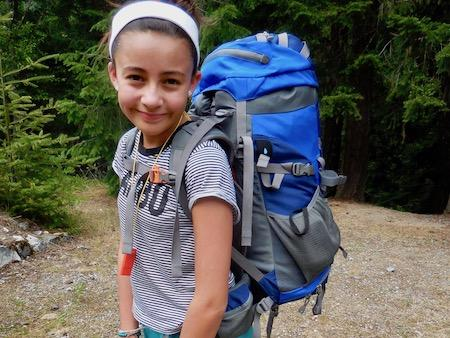 Girls Camp Hiking Trip