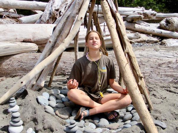 Driftwood fort girls adventure camp