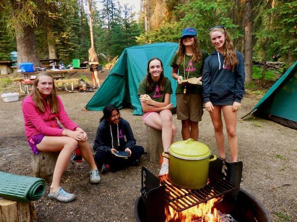 Girls summer backcountry trip