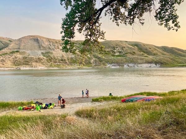 Missouri River Campsite Landing