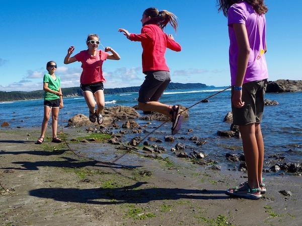 Girls summer adventure beach camp