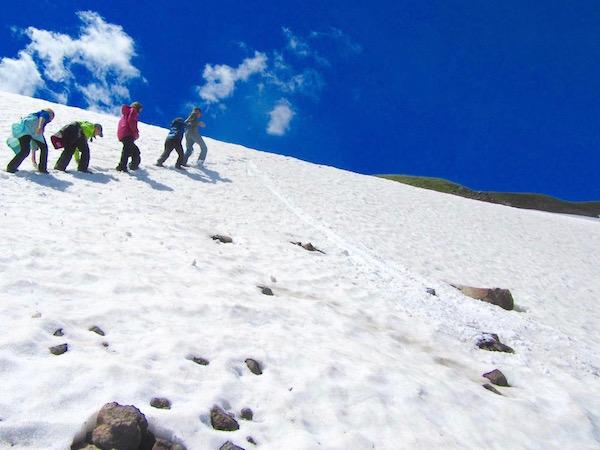 July Snow Field on Continental Divide SW MT