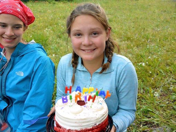 Birthdays at Summer Girls Camp Wilderness