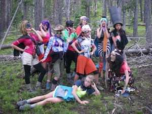 Costume Party in the Backcountry at Girls Camp