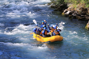 Girls  summer camp whitewater rafting