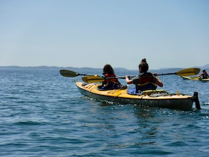 Kayaking Girls Summer Camp PNW