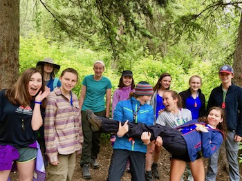 Backpacking Group Montana Girls