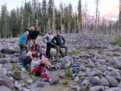Girls Camp Washington Backpacking