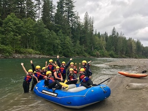 Rafting Group Sauk River